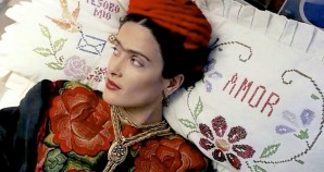Frida on pillow